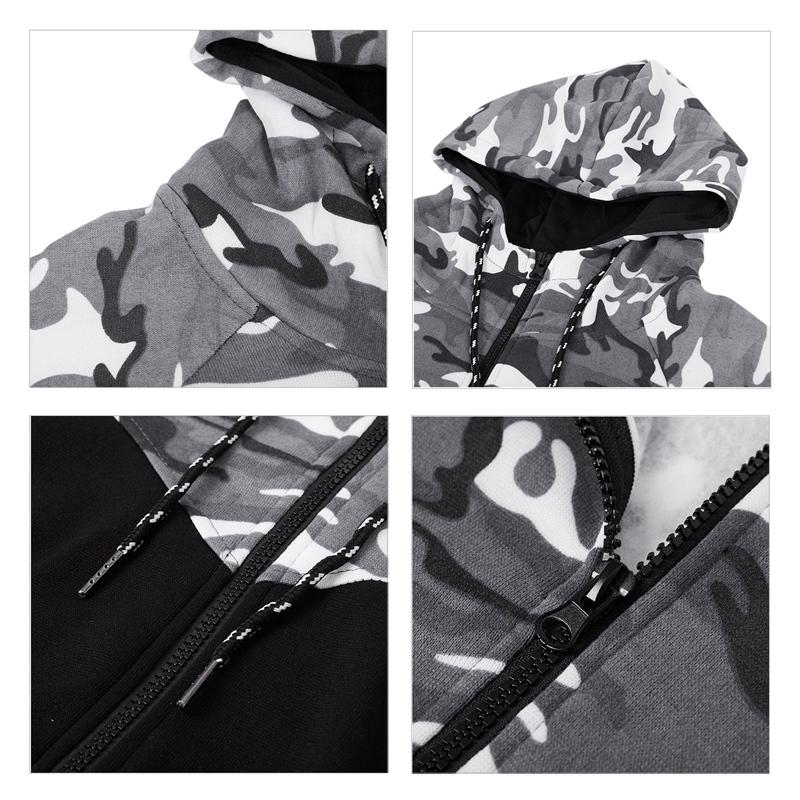 Vetement-De-Sport-A-Capuche-D-039-Impression-De-Couleur-Camouflage-Jointif-A-Lo-A1Y6 miniature 12