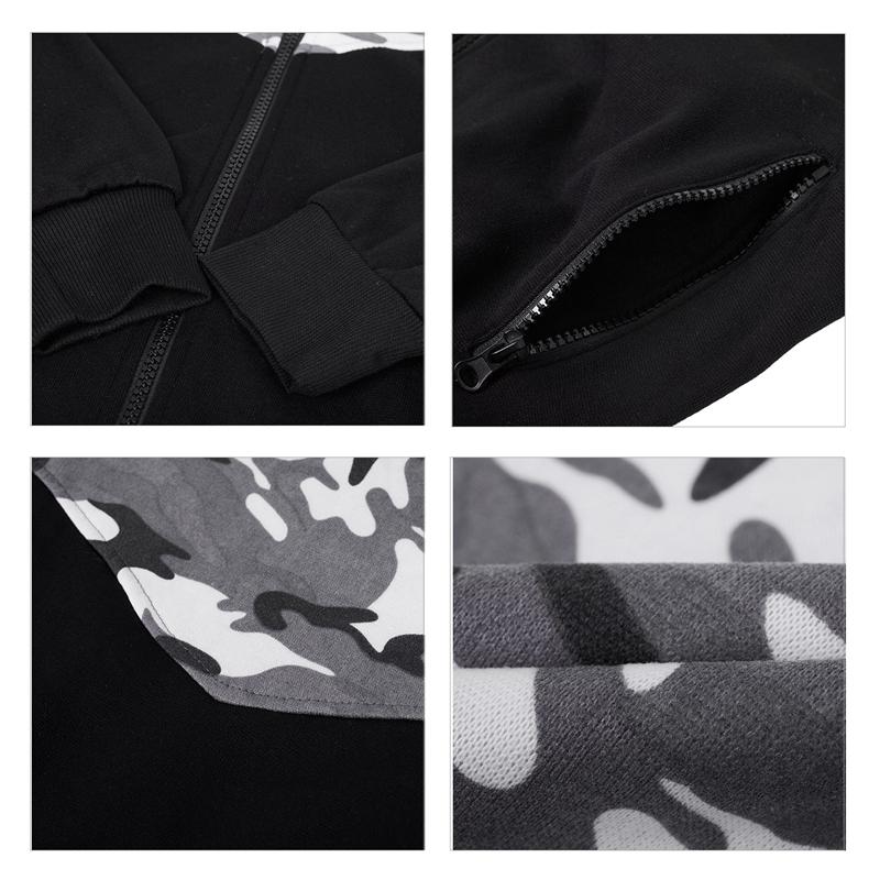Vetement-De-Sport-A-Capuche-D-039-Impression-De-Couleur-Camouflage-Jointif-A-Lo-A1Y6 miniature 13
