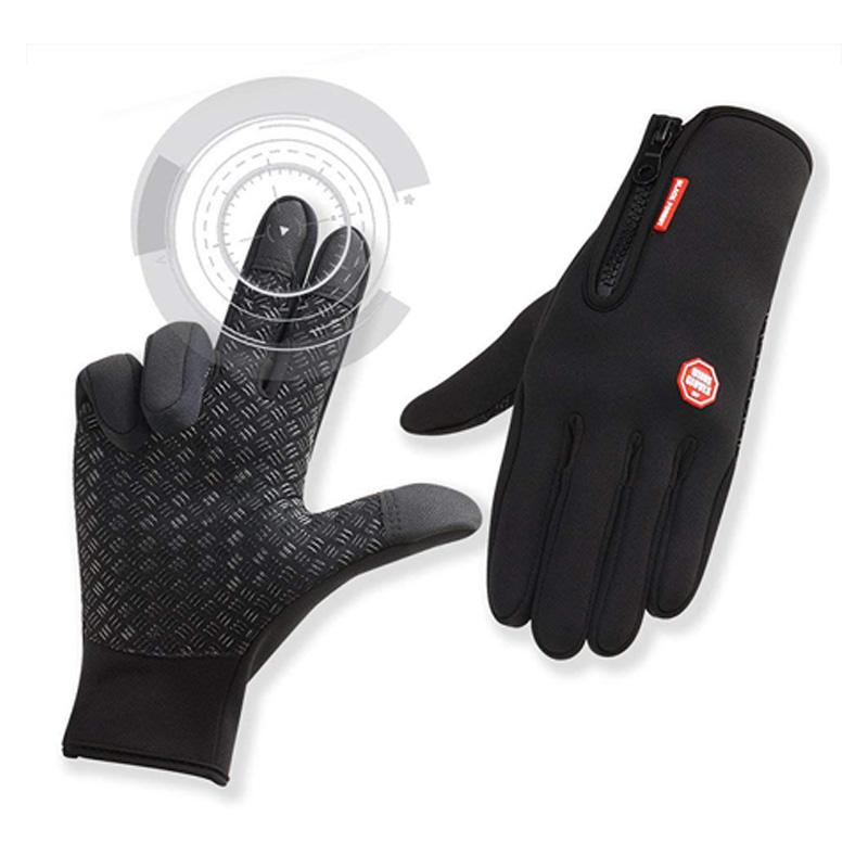 Gants-de-Velo-Impermeables-Gants-D-039-Hiver-Gants-de-Plein-Air-Thermiques-Coup-B2T2
