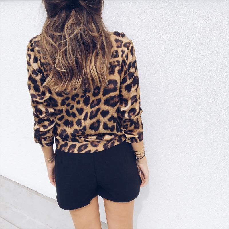 Para-Mujer-Moda-De-Otono-Estampado-De-Leopardo-Blusa-Camiseta-Senoras-Sexy-Y5H6 miniatura 5