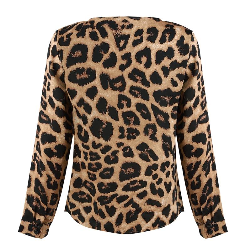 Para-Mujer-Moda-De-Otono-Estampado-De-Leopardo-Blusa-Camiseta-Senoras-Sexy-Y5H6 miniatura 8