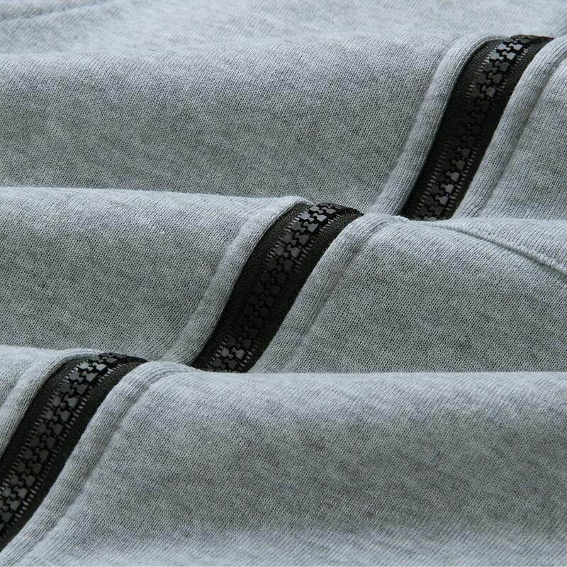 1X-Mode-Feminine-Automne-Hiver-Fermeture-Eclair-Long-Manteau-A-Capuche-Vest-B5P1 miniature 22