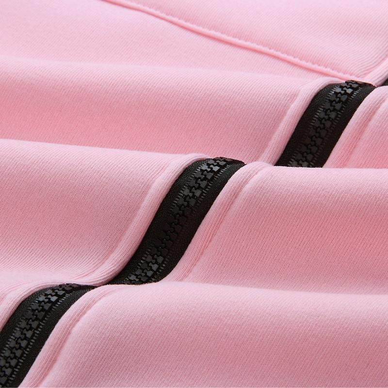 1X-Mode-Feminine-Automne-Hiver-Fermeture-Eclair-Long-Manteau-A-Capuche-Vest-B5P1 miniature 31
