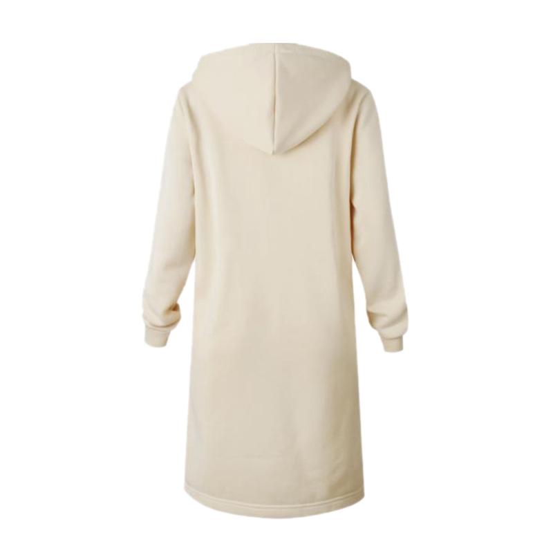 1X-Mode-Feminine-Automne-Hiver-Fermeture-Eclair-Long-Manteau-A-Capuche-Vest-B5P1 miniature 37