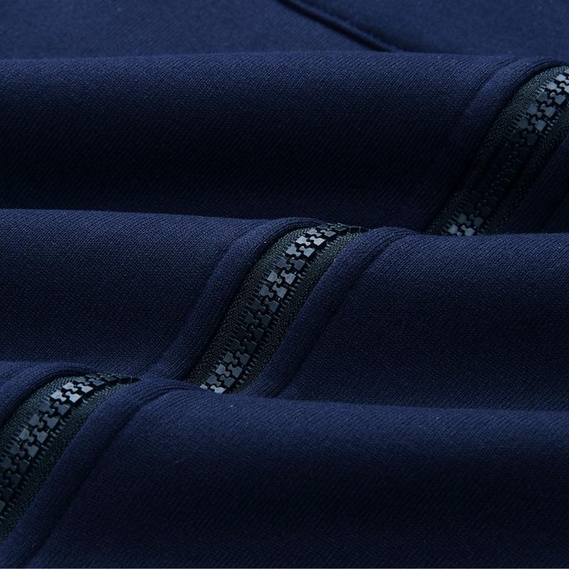1X-Mode-Feminine-Automne-Hiver-Fermeture-Eclair-Long-Manteau-A-Capuche-Vest-B5P1 miniature 65