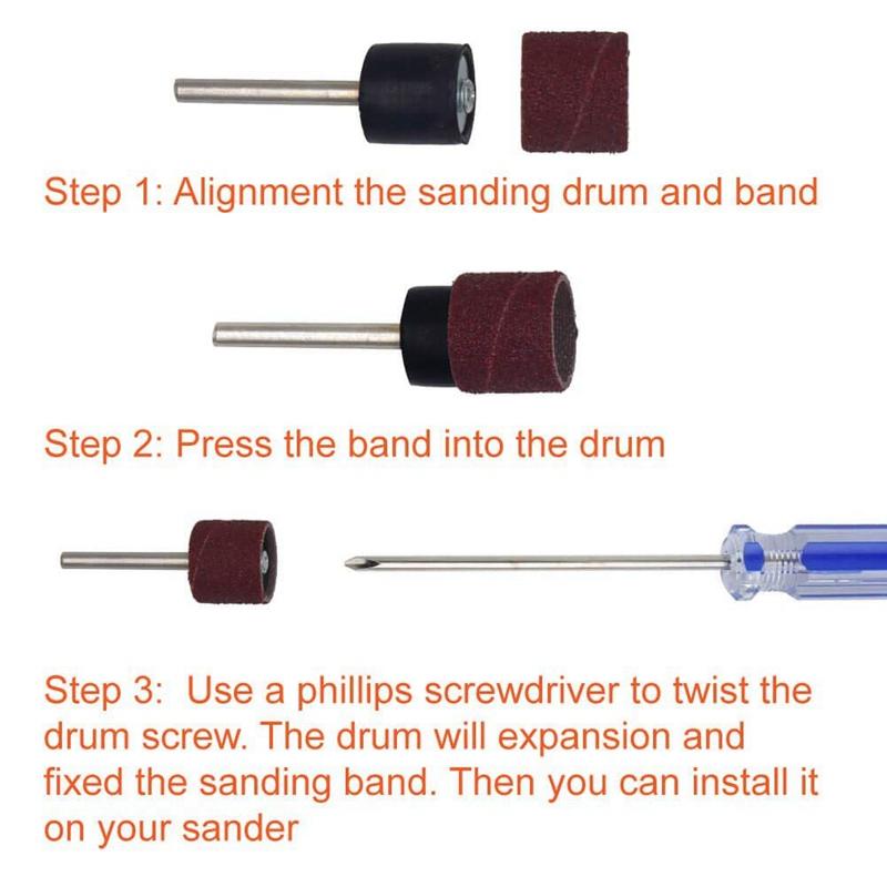 120Pcs-Drum-Sanders-Set-Including-108-Pcs-Sanding-Bands-and-12-Pcs-Drum-Man-P9J6 thumbnail 5