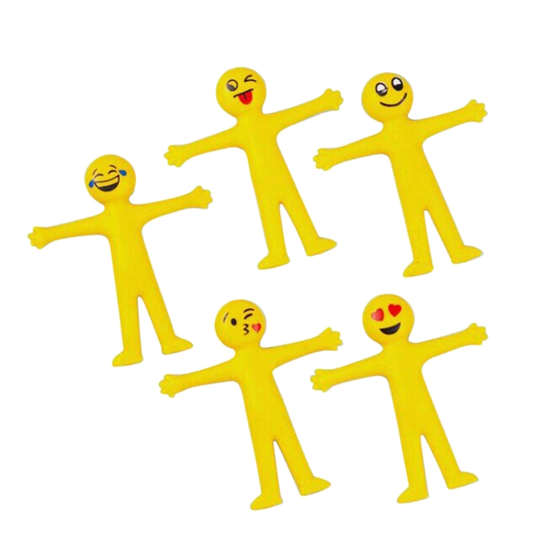 2X-5-x-Stretchy-Smile-Men-Party-Bags-Fillers-Party-Favour-Gifts-Yellow-G2W4