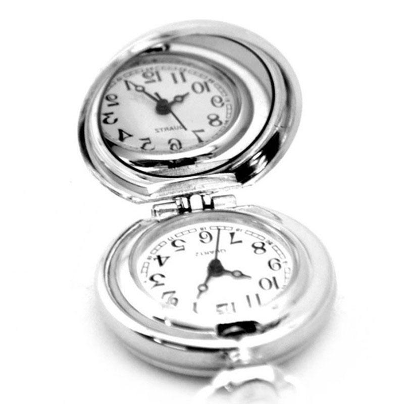 Paar-Modelle-Klassische-Mode-Retro-Quarz-Kleine-Anemone-Blaue-Taschen-Uhr-X3P8 Indexbild 4