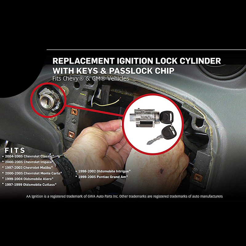 Replacement Ignition Lock Cylinder With Keys Plock Chip Is Where You Insert Your For To Start Vehicle It An Embly Part That Helps