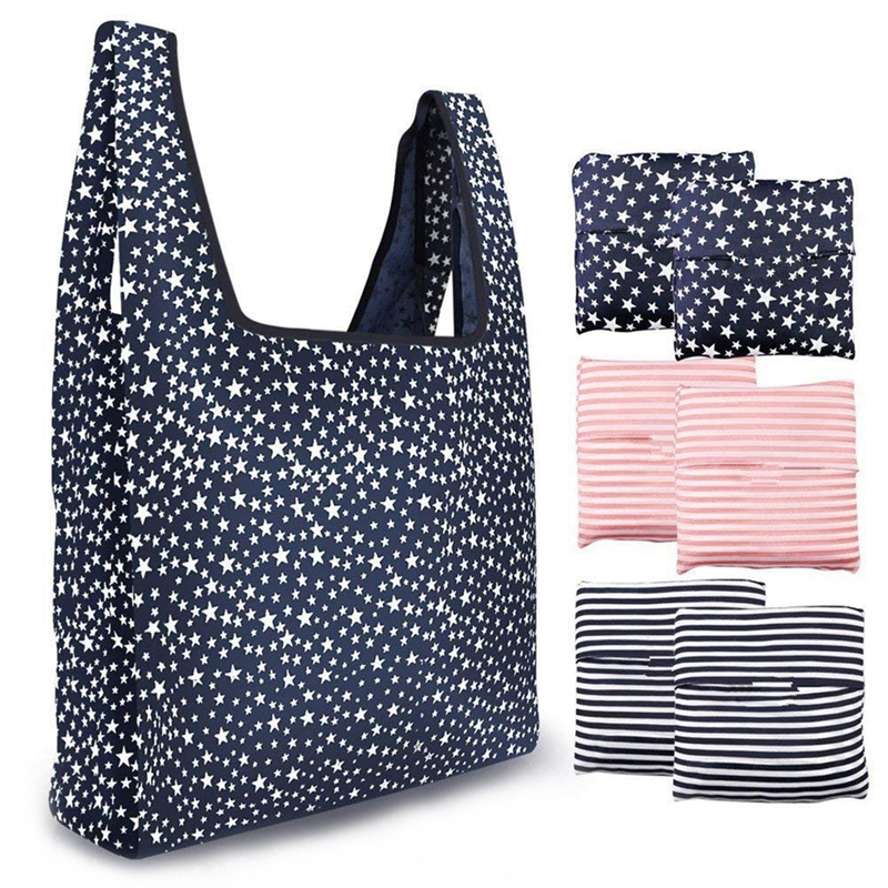 e157c90bd58 Reusable Grocery Bags 6 Pack Heavy Duty Folding Shopping Tote Bag Washable  D1G8