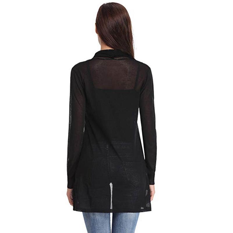 1X-Manteau-Cardigan-A-Manches-Longues-Maille-Chale-Pour-Femmes-Surdimension-X4C5 miniature 3