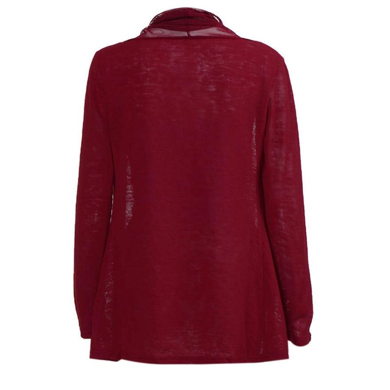 1X-Manteau-Cardigan-A-Manches-Longues-Maille-Chale-Pour-Femmes-Surdimension-X4C5 miniature 10