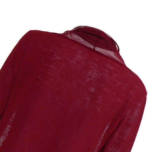 1X-Manteau-Cardigan-A-Manches-Longues-Maille-Chale-Pour-Femmes-Surdimension-X4C5 miniature 11