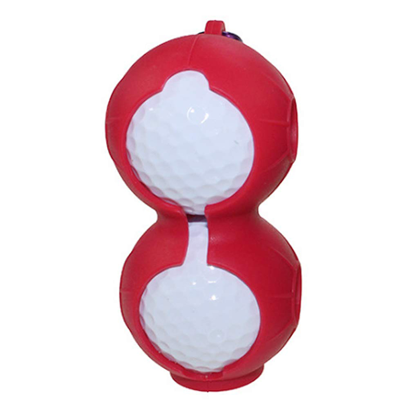 Golf-Ball-Cover-Silicone-8-Shape-Sleeve-Protective-Keyring-Sport-Accessorie-Q6S8 thumbnail 5