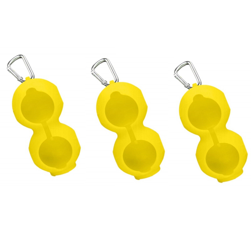 Golf-Ball-Cover-Silicone-8-Shape-Sleeve-Protective-Keyring-Sport-Accessorie-Q6S8 thumbnail 9