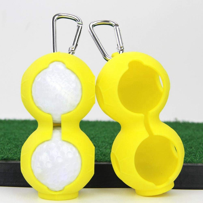 Golf-Ball-Cover-Silicone-8-Shape-Sleeve-Protective-Keyring-Sport-Accessorie-Q6S8 thumbnail 10