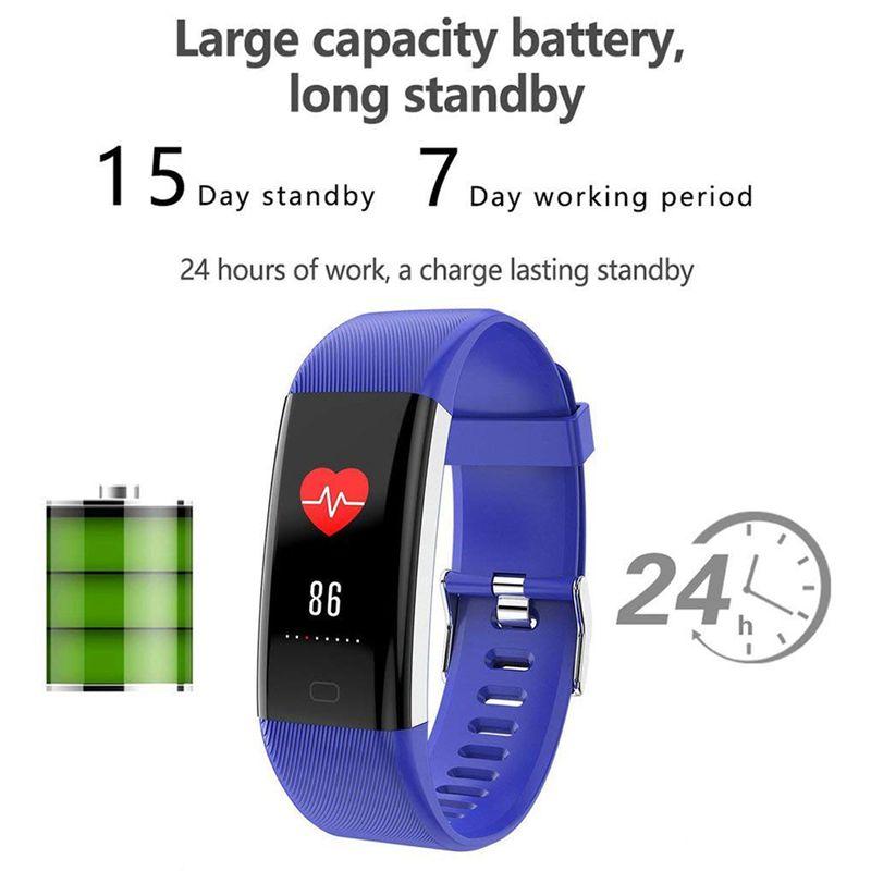 Plus-0-96-Pulgadas-Monitor-De-Presion-Arterial-Fitness-De-Ritmo-Cardiaco-R6D9 miniatura 7