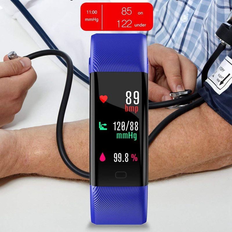Plus-0-96-Pulgadas-Monitor-De-Presion-Arterial-Fitness-De-Ritmo-Cardiaco-R6D9 miniatura 9