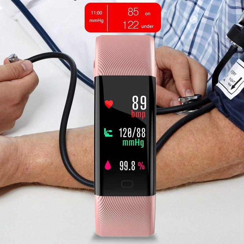 Plus-0-96-Pulgadas-Monitor-De-Presion-Arterial-Fitness-De-Ritmo-Cardiaco-R6D9 miniatura 24