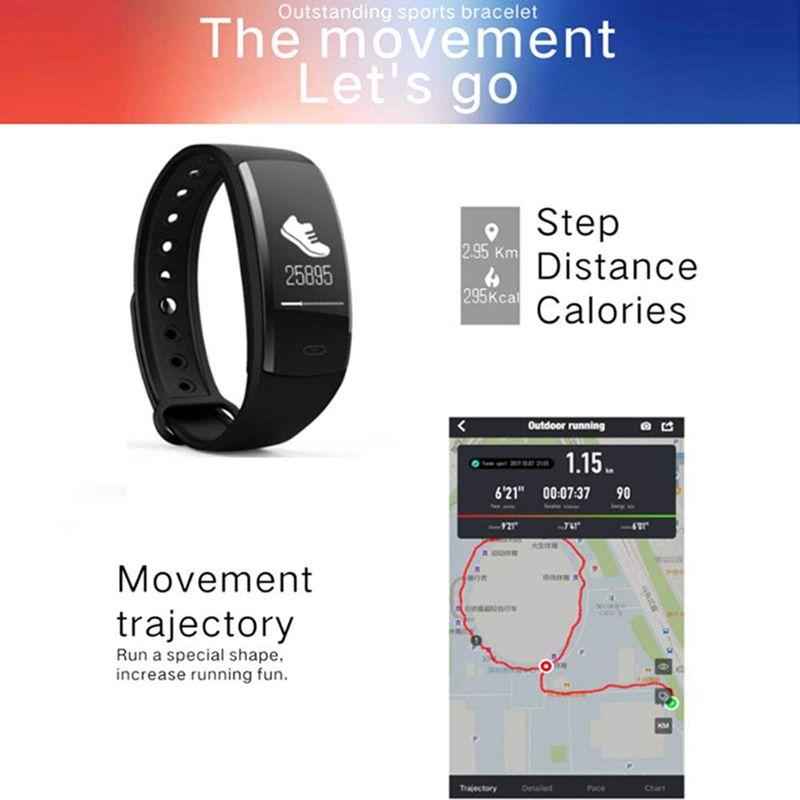 QS90-Rastreador-De-Fitness-Con-Monitor-De-Ritmo-Cardiaco-Reloj-G7J2 miniatura 4