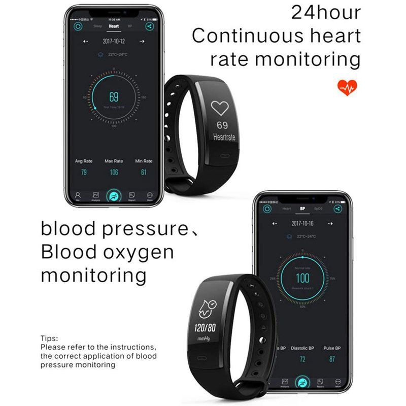 QS90-Rastreador-De-Fitness-Con-Monitor-De-Ritmo-Cardiaco-Reloj-G7J2 miniatura 5