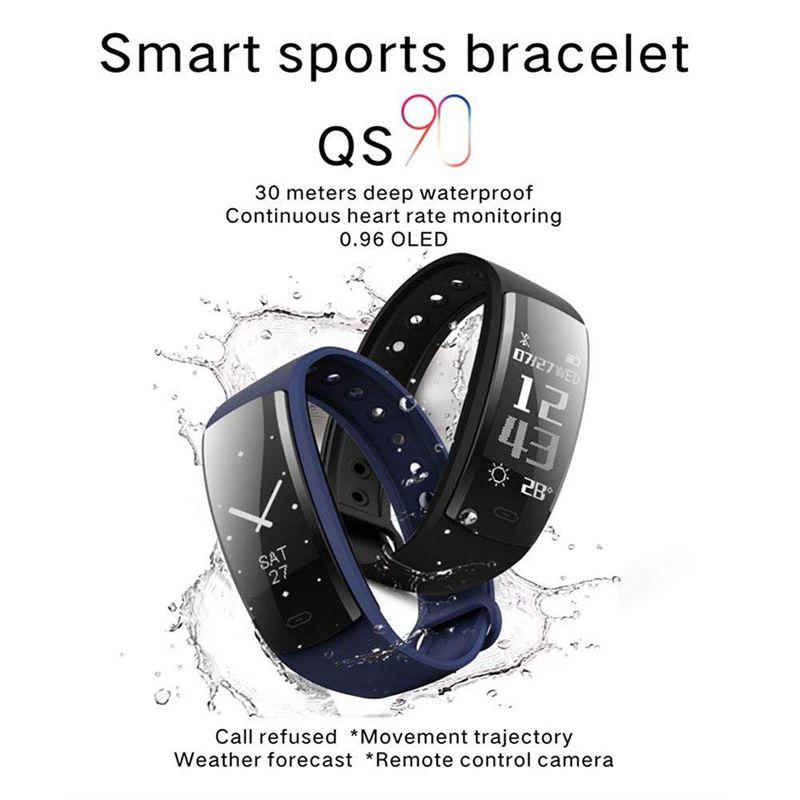 QS90-Rastreador-De-Fitness-Con-Monitor-De-Ritmo-Cardiaco-Reloj-G7J2 miniatura 7