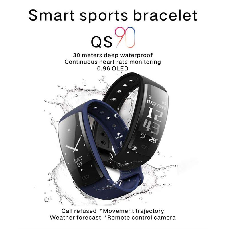 QS90-Rastreador-De-Fitness-Con-Monitor-De-Ritmo-Cardiaco-Reloj-G7J2 miniatura 10