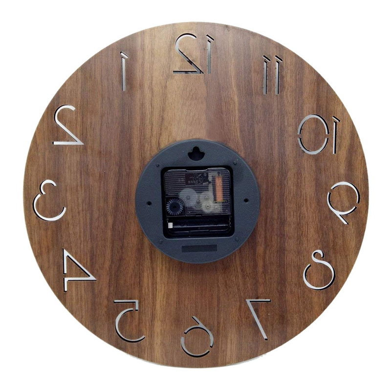 1X(12 inch Vintage Arabic Numeral Design Rustic Country Tuscan Style WoodenP6T9) 2