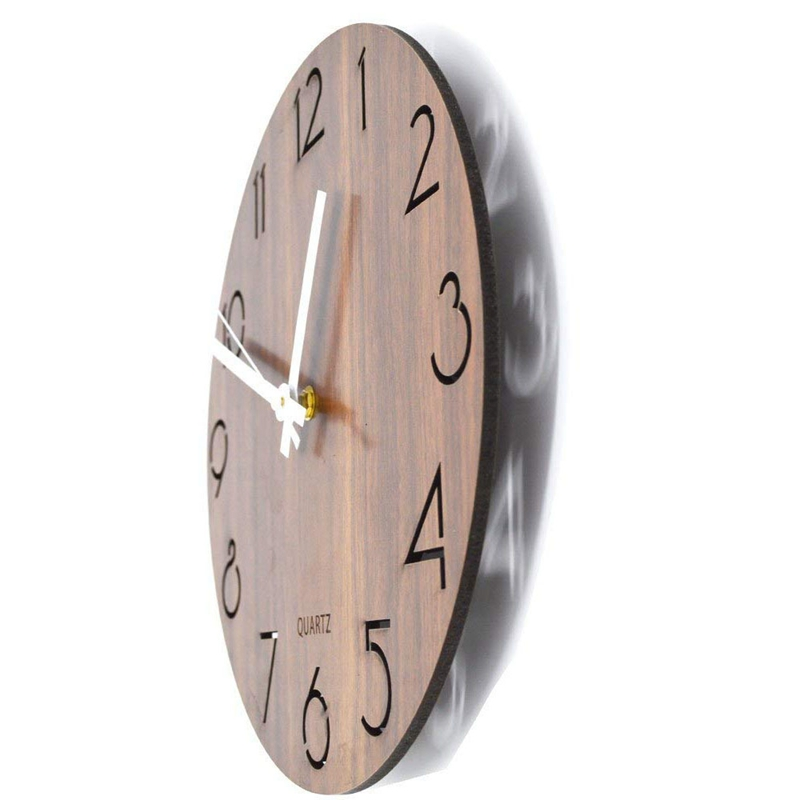 1X(12 inch Vintage Arabic Numeral Design Rustic Country Tuscan Style WoodenP6T9) 3