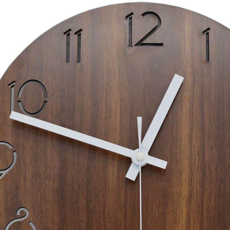 1X(12 inch Vintage Arabic Numeral Design Rustic Country Tuscan Style WoodenP6T9) 4