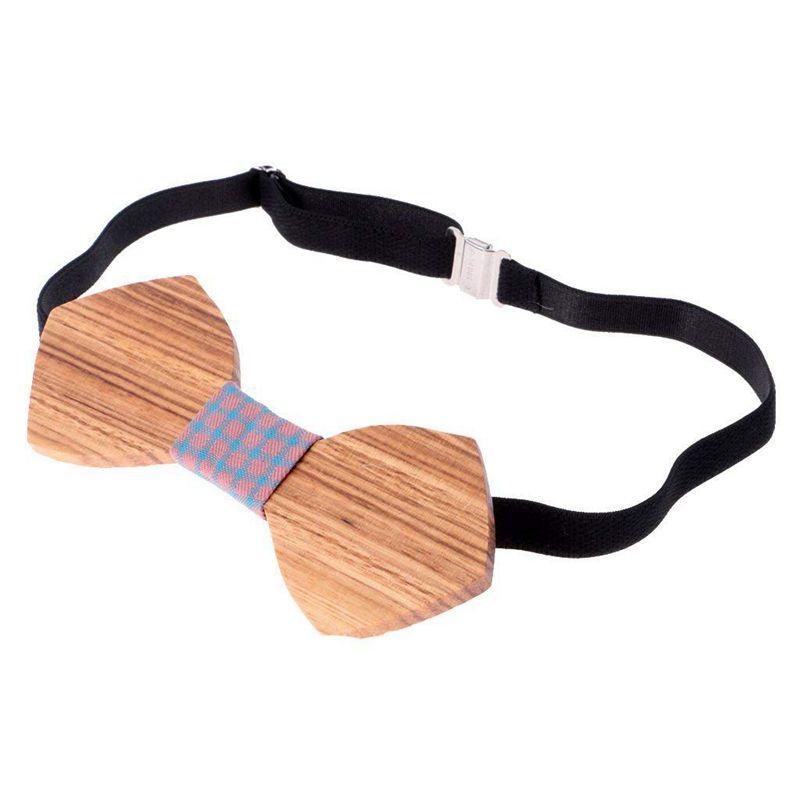 Homme-Noeud-Papillon-en-Bois-Cravate-Tendance-Accessoire-Costume-Tuxedo-pou-C4N1 miniature 3