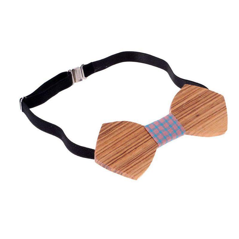 Homme-Noeud-Papillon-en-Bois-Cravate-Tendance-Accessoire-Costume-Tuxedo-pou-C4N1 miniature 4