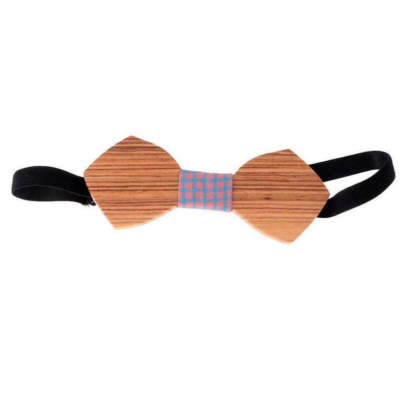 Homme-Noeud-Papillon-en-Bois-Cravate-Tendance-Accessoire-Costume-Tuxedo-pou-C4N1 miniature 5