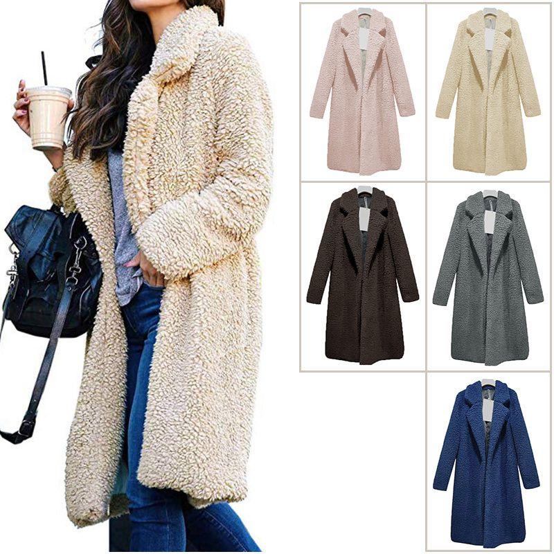 bcff5e577 Women Fashion Thick Soft Warm Teddy Bear Fleece Fur Fluffy Coat Long ...