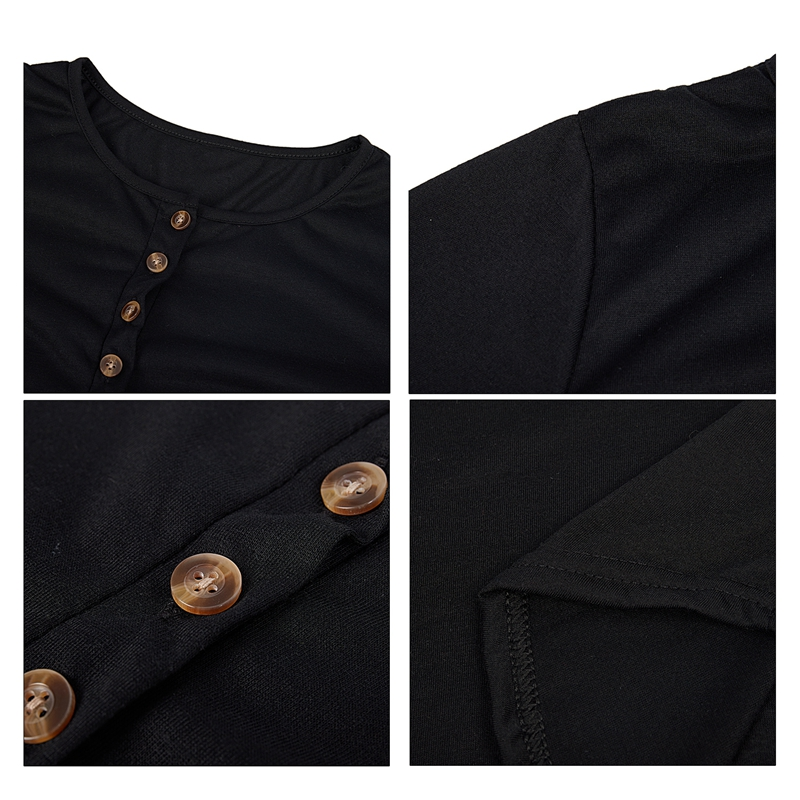 miniatuur 23 - Women Shirts Button Lace Sleeve Long Sleeve Plus Size Skinny