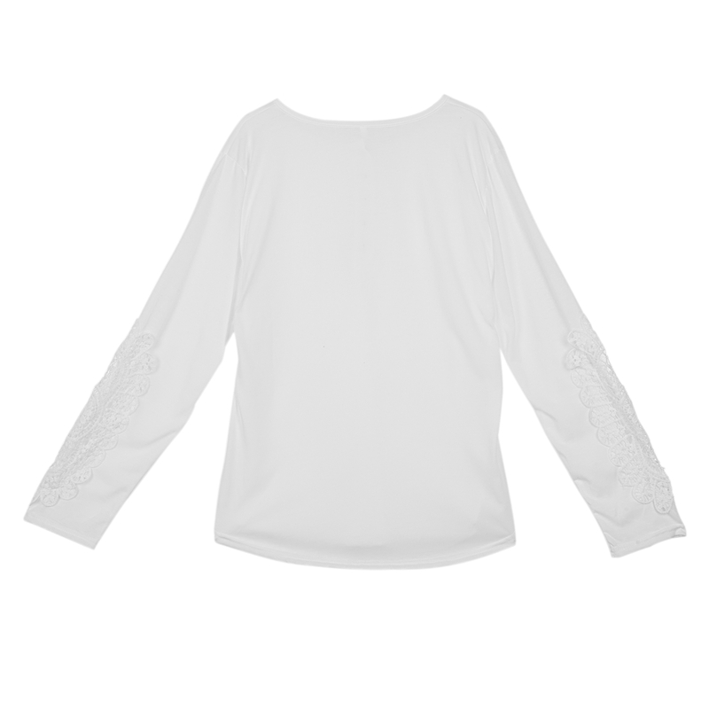 miniatuur 40 - Women Shirts Button Lace Sleeve Long Sleeve Plus Size Skinny