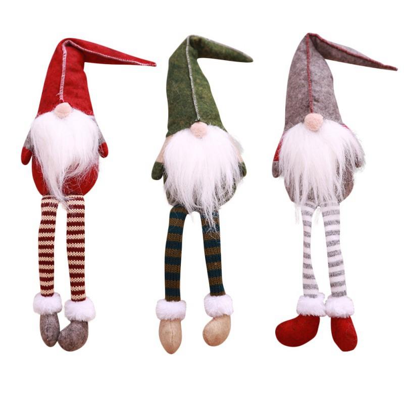 Cute Sitting Long Legged Elf Festival New Year Dinner Party Christmas Decor C