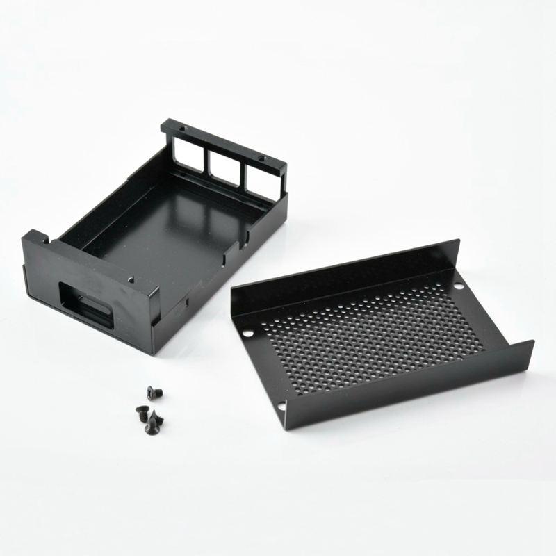 Raspberry-Pi-3-Modell-B-Gehaeuse-Aluminium-Gehaeuse-Kompatibel-mit-Raspberr-D1U8 Indexbild 3