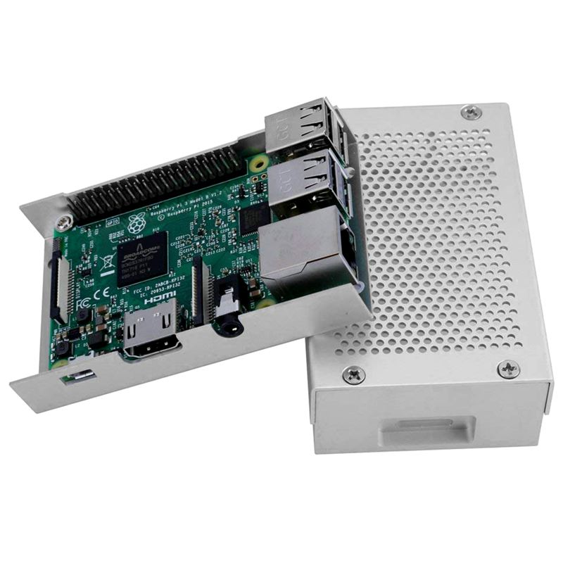 Raspberry-Pi-3-Modell-B-Gehaeuse-Aluminium-Gehaeuse-Kompatibel-mit-Raspberr-D1U8 Indexbild 11