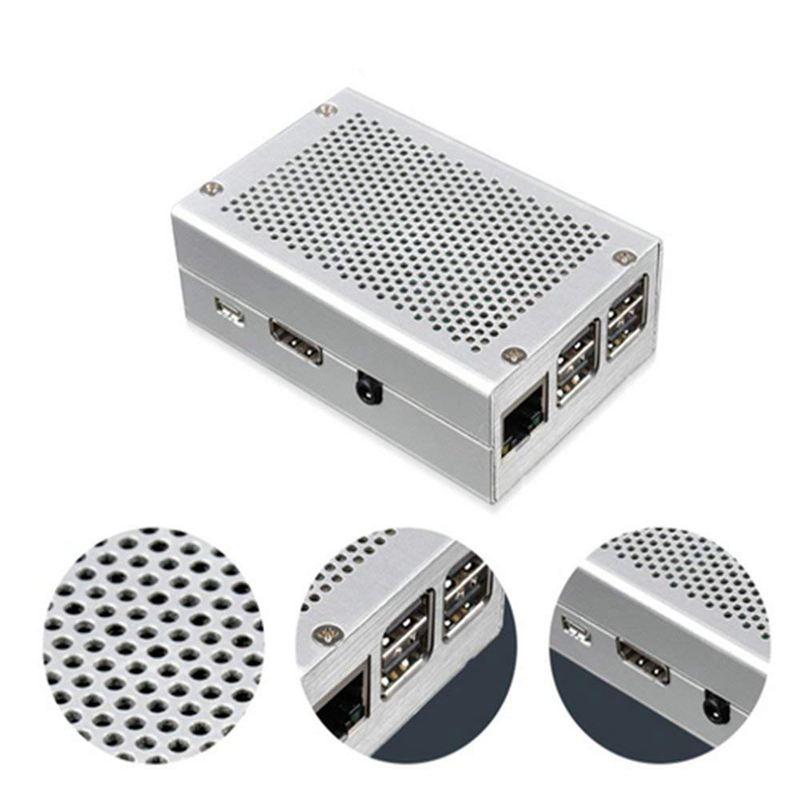 Raspberry-Pi-3-Modell-B-Gehaeuse-Aluminium-Gehaeuse-Kompatibel-mit-Raspberr-D1U8 Indexbild 14