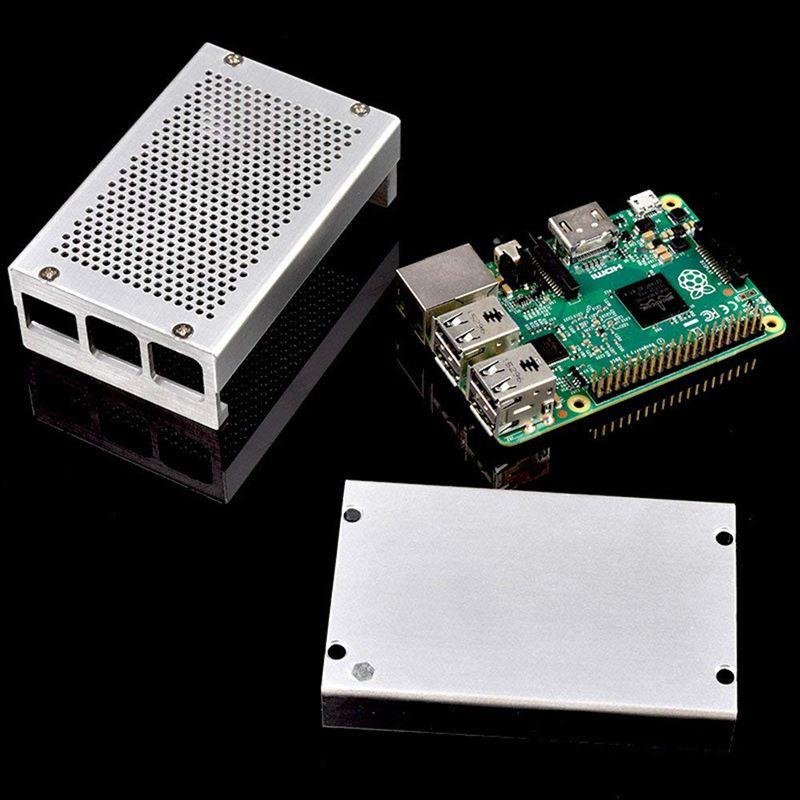 Raspberry-Pi-3-Modell-B-Gehaeuse-Aluminium-Gehaeuse-Kompatibel-mit-Raspberr-D1U8 Indexbild 15
