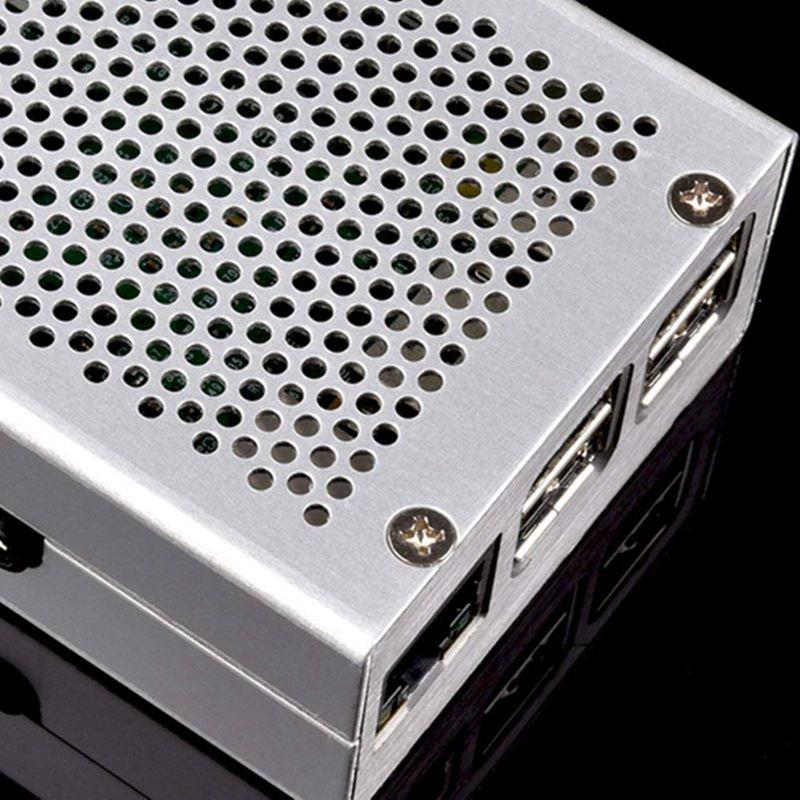 Raspberry-Pi-3-Modell-B-Gehaeuse-Aluminium-Gehaeuse-Kompatibel-mit-Raspberr-D1U8 Indexbild 16