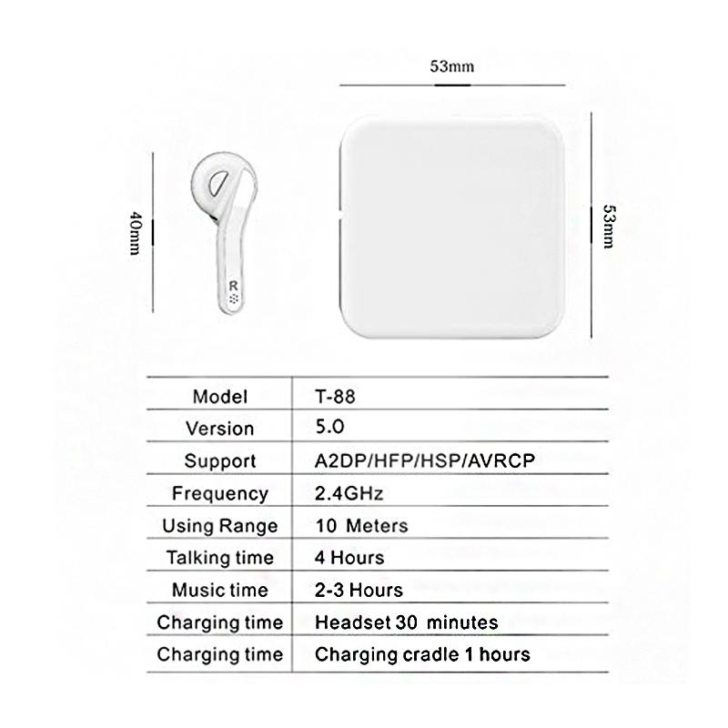 Hifi-Tws-Sans-Fil-Bluetooth-Double-Stereo-Bluetooth-5-0Anti-Oreillettes-Ip-T3W4 miniature 7