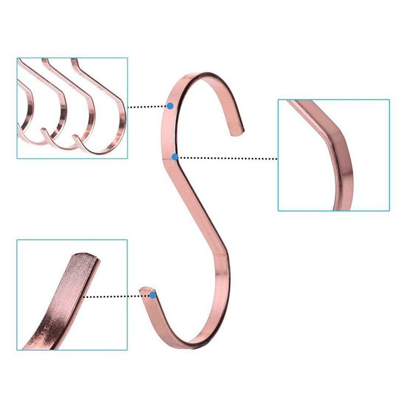5x 10 Pack 4 Inch Rose Gold Chrome Finish Steel Hanging