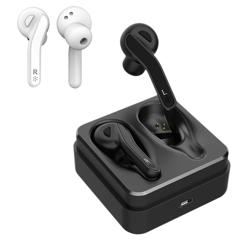 HiFi TWS Wireless Bluetooth Headset,Dual Stereo Bluetooth 5.0 Earbuds IPX5 D4Y4