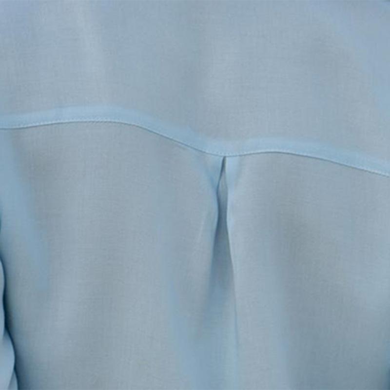 Otono-Blusa-Camisa-De-Gasa-De-Manga-Larga-De-Solapa-Con-Botones-Para-Mujer-C5T3 miniatura 6