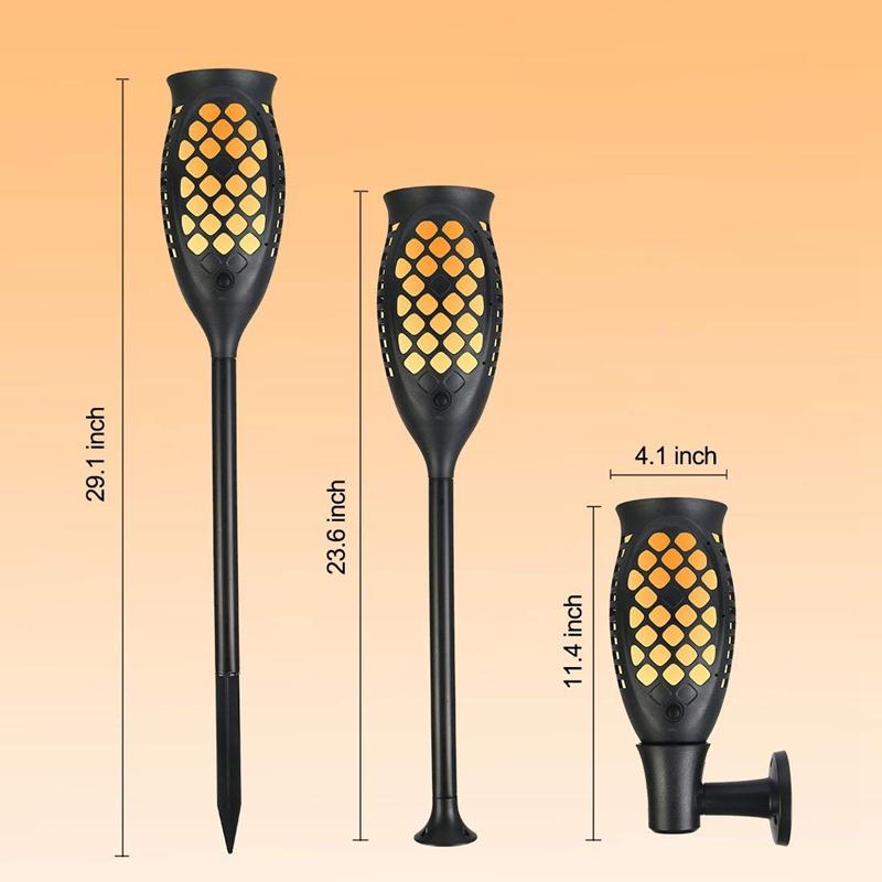 Solar-Taschenlampen-Beleuchtung-Wasserdichte-Flackernde-Flammen-Im-Freien-X3C2 Indexbild 2
