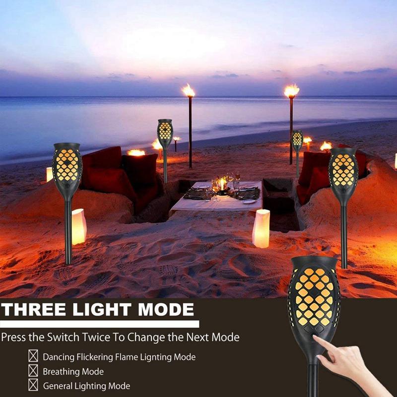 Solar-Taschenlampen-Beleuchtung-Wasserdichte-Flackernde-Flammen-Im-Freien-X3C2 Indexbild 6