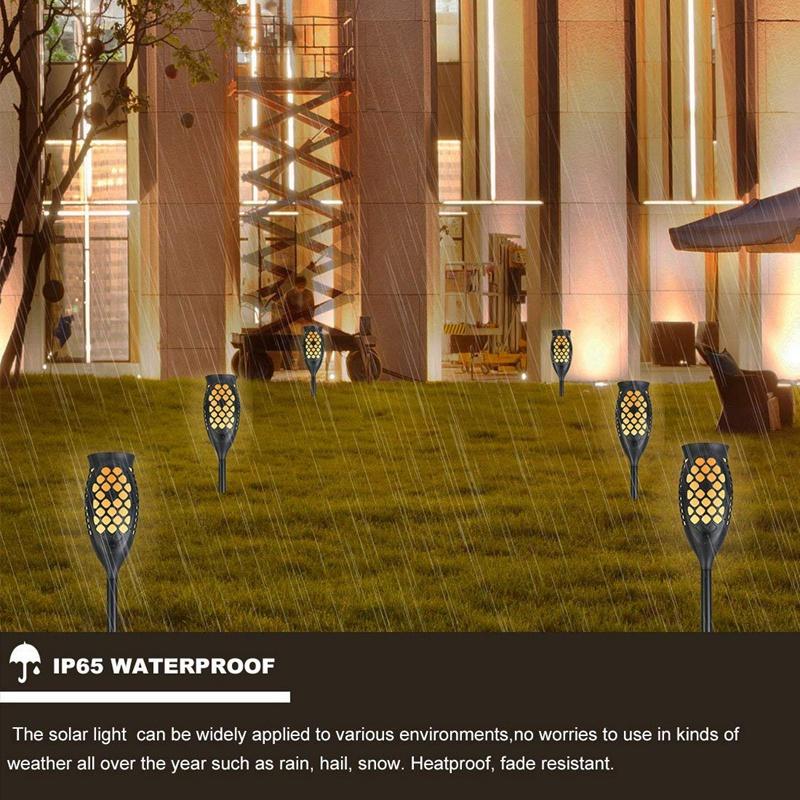 Solar-Taschenlampen-Beleuchtung-Wasserdichte-Flackernde-Flammen-Im-Freien-X3C2 Indexbild 7