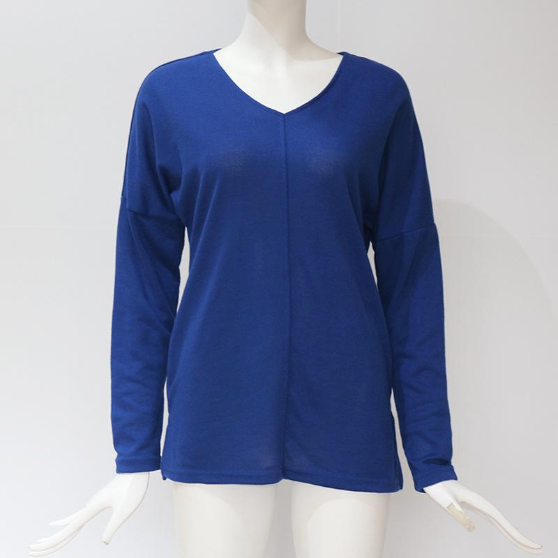 Femmes-Automne-Mode-Col-En-V-a-Manches-Longues-Chandail-a-Tricot-Dames-Deco-R3N1 miniature 10